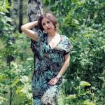 Palmen Print Kleid