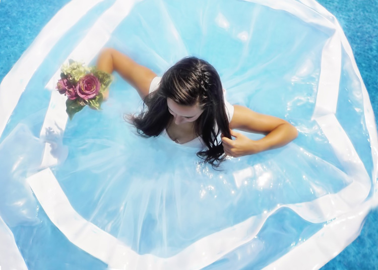 Transparenz Brautkleid Hochzeitskleid