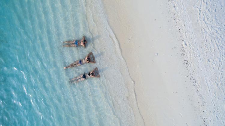 Frauen Strand Meer
