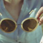 Sonnenbrille Gelb Frau