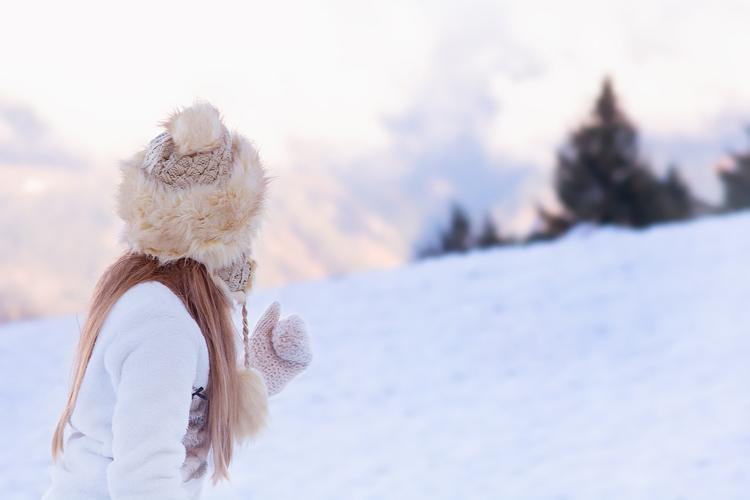 Fellmütze Bommel Winter